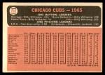 1966 Topps #204   Cubs Team Back Thumbnail