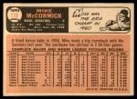 1966 Topps #118  Mike McCormick  Back Thumbnail