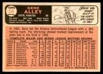 1966 Topps #336  Gene Alley  Back Thumbnail