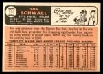1966 Topps #144  Don Schwall  Back Thumbnail