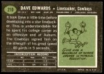 1969 Topps #210  Dave Edwards  Back Thumbnail
