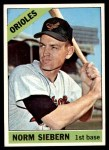 1966 Topps #14  Norm Siebern  Front Thumbnail