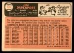 1966 Topps #176  Jim Davenport  Back Thumbnail