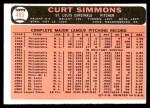 1966 Topps #489  Curt Simmons  Back Thumbnail