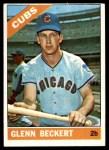 1966 Topps #232  Glenn Beckert  Front Thumbnail