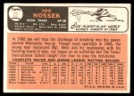 1966 Topps #22  Joe Nossek  Back Thumbnail