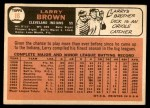 1966 Topps #16  Larry Brown  Back Thumbnail
