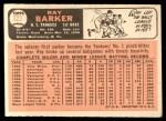 1966 Topps #323  Ray Barker  Back Thumbnail