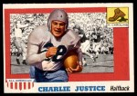 1955 Topps #63  Charlie Justice  Front Thumbnail