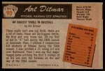 1955 Bowman #90  Art Ditmar  Back Thumbnail