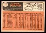 1966 Topps #270  Claude Osteen  Back Thumbnail