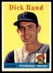 1958 Topps #218  Dick Rand  Front Thumbnail