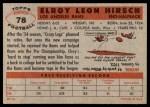 1956 Topps #78  Elroy Hirsch  Back Thumbnail