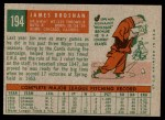 1959 Topps #194  Jim Brosnan  Back Thumbnail