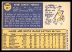 1970 Topps #107  Bobby Etheridge  Back Thumbnail