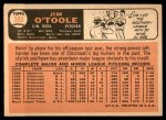 1966 Topps #389  Jim O'Toole  Back Thumbnail
