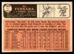 1966 Topps #487  Al Ferrara  Back Thumbnail