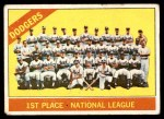 1966 Topps #238   Dodgers Team Front Thumbnail