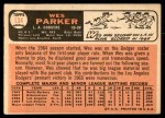 1966 Topps #134  Wes Parker  Back Thumbnail