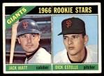 1966 Topps #373   -  Jack Hiatt / Dick Estelle Giants Rookies Front Thumbnail
