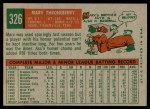 1959 Topps #326  Marv Throneberry  Back Thumbnail
