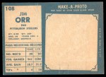 1961 Topps #108  Jimmy Orr  Back Thumbnail