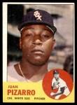 1963 Topps #160  Juan Pizarro  Front Thumbnail