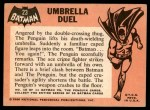 1966 Topps Batman Black Bat #23 BLK  Umbrella Duel Back Thumbnail