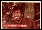 1956 Topps Davy Crockett #3 GRN  Catching a Bear  Front Thumbnail