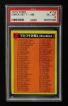 1973 Topps #116   Checklist Front Thumbnail
