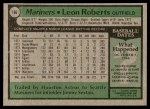 1979 Topps #166  Leon Roberts  Back Thumbnail
