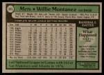 1979 Topps #305  Willie Montanez  Back Thumbnail
