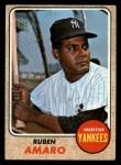 1968 Topps #138  Ruben Amaro  Front Thumbnail