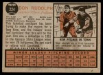 1962 Topps #224  Don Rudolph  Back Thumbnail