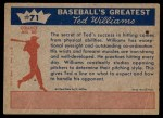 1959 Fleer #71   -  Ted Williams Hitting Fundamentals #1 Back Thumbnail