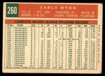 1959 Topps #260  Early Wynn  Back Thumbnail