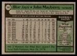 1979 Topps #380  John Mayberry  Back Thumbnail