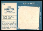 1961 Topps #46  Bill Forester  Back Thumbnail