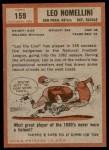 1962 Topps #159  Leo Nomellini  Back Thumbnail
