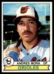 1979 Topps #287  Andres Mora  Front Thumbnail