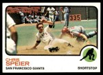 1973 Topps #273  Chris Speier  Front Thumbnail
