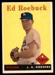 1958 Topps #435  Ed Roebuck  Front Thumbnail