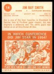 1963 Topps #18  Jim Ray Smith  Back Thumbnail