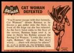 1966 Topps Batman Black Bat #35 BLK  Cat Woman Defeated Back Thumbnail