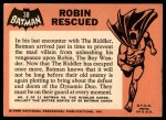 1966 Topps Batman Black Bat #38 BLK  Robin Rescued Back Thumbnail