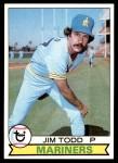 1979 Topps #103  Jim Todd  Front Thumbnail