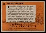 1956 Topps Davy Crockett #66 ORG  Reload Back Thumbnail