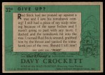 1956 Topps Davy Crockett #32 GRN  Give Up?  Back Thumbnail