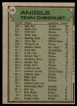 1979 Topps #424   -  Jim Fregosi  Angels Team Checklist Back Thumbnail