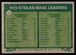 1977 Topps #4   -  Bill North / Dave Lopes SB Leaders   Back Thumbnail
